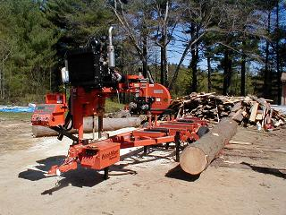 Making lumber with a Wood Mizer Portable Saw Mill - Guide to