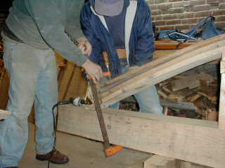 Steam Bending White Oak - Guide to building a timber frame home