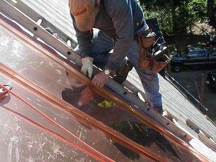 Copper Roofing Forming And Installing A Standing Seam