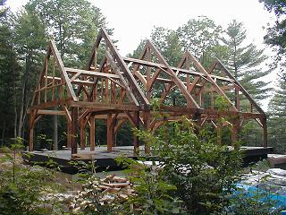 Build your own timber frame guide to building a timber for Modern a frame house